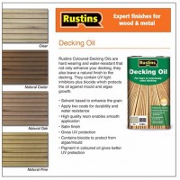 Rustins Decking Oil 5L Clear