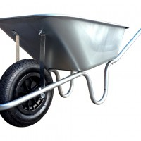 Galvanised 110L Wheelbarrow (Puncture Proof)