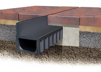 Aco 1m Hexdrain Brickslot Channel With Black Plastic